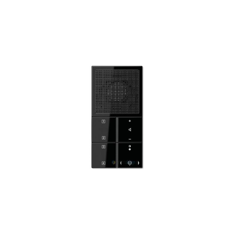 jung ls 990 radio podtynkowe czarne. Black Bedroom Furniture Sets. Home Design Ideas