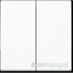 Włącznik podwójny (seryjny) biały, JUNG A-creation