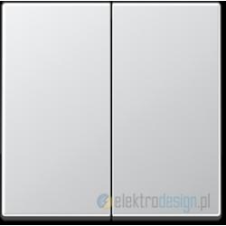 Włącznik podwójny (seryjny), Kolor: alu, JUNG A-creation