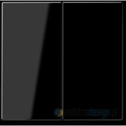 Włącznik podwójny (seryjny) schodowy, czarny, JUNG A-creation