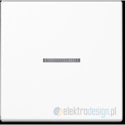 Włącznik pojedynczy z podświetleniem, biały JUNG A-creation