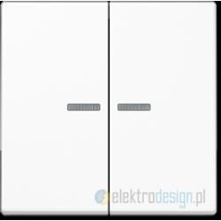 Włącznik podwójny z podświetleniem, biały JUNG A-creation