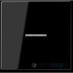 Włącznik pojedynczy z podświetleniem, czarny JUNG A-creation