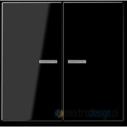 Włącznik podwójny z podświetleniem, czarny JUNG A-creation