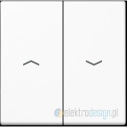Włącznik roletowy przyciskowy, biały, JUNG A-creation