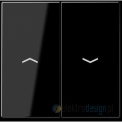 Włącznik roletowy przyciskowy, czarny, JUNG A-creation