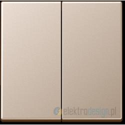 Włącznik podwójny (seryjny) schodowy, kolor: alu, JUNG A-creation