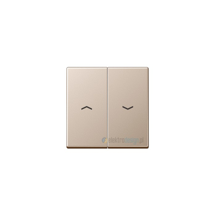 Włącznik roletowy przyciskowy, kolor: alu, JUNG A-creation