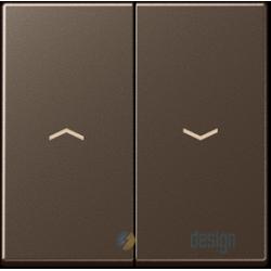 Włącznik roletowy przyciskowy, mokka JUNG A-creation