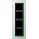 Ramka 4-krotna zielony mat Jung LS Plus