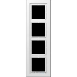 Ramka 4-krotna biała Jung LS Design