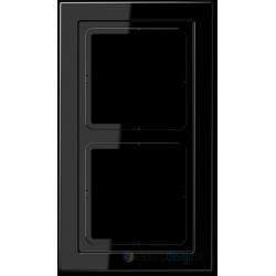 Ramka 2-krotna czarna Jung LS Design