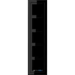 Ramka 5-krotna czarna Jung LS Design