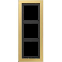 Ramka 3-krotna mosiądz klasyczny Jung LS Design