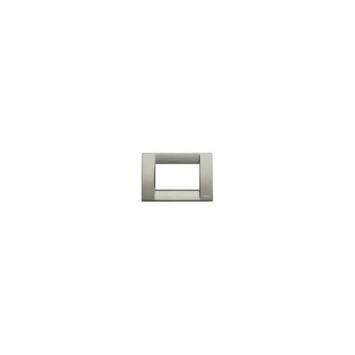 Ramka ozdobna, Classic, metal, 3M, metaliczny tytanowy, Vimar IDEA