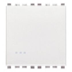 Łącznik jednobiegunowy, 1P, 16AX, 2M, biały, Vimar EIKON