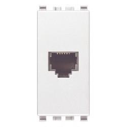 Gniazdo telefoniczne, RJ12, 1M, biały, Vimar EIKON