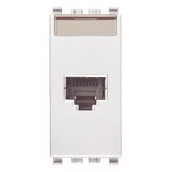 Gniazdo komputerowe, RJ45, kat.5e, Netsafe FTP110, 1M, biały, Vimar EIKON