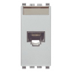 Gniazdo komputerowe, RJ45, kat.6, UTP110, 1M, srebrny, Vimar EIKON