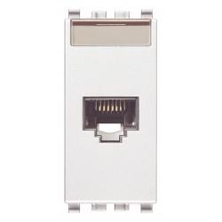 Gniazdo komputerowe, RJ45, kat.6, UTP110, 1M, biały, Vimar EIKON