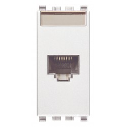 Gniazdo komputerowe, RJ45, kat.5e, Netsafe UTP, 1M, biały, Vimar EIKON