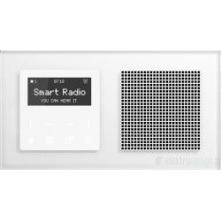 Jung smart radio podtynkowe Acreation białe szkło