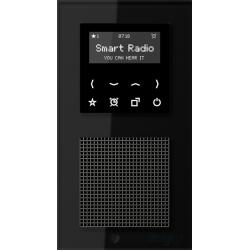 Jung smart radio podtynkowe Acreation czarne szkło