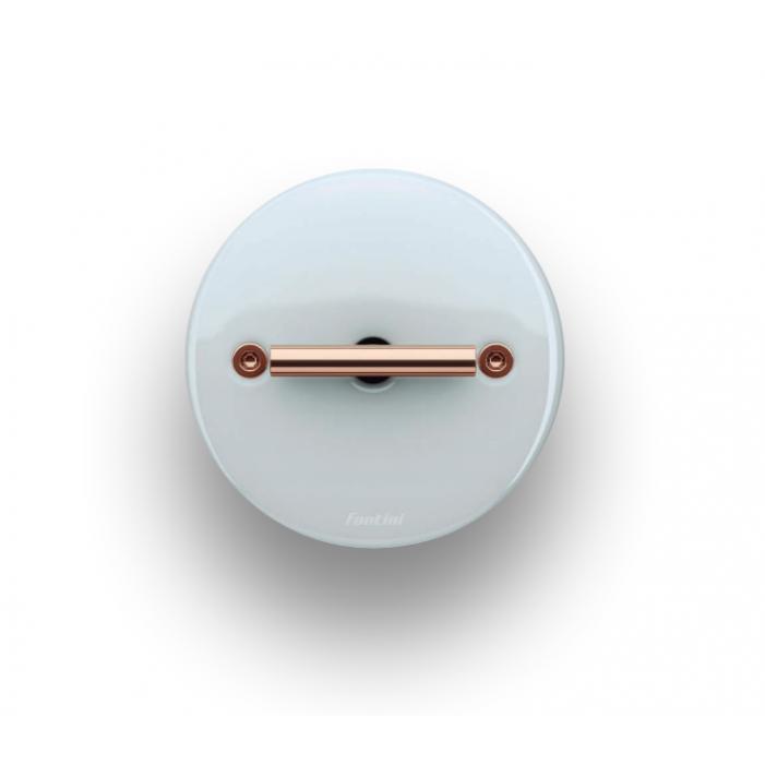 Fontini DO włącznik porcelanowy retro biały / mosiądz
