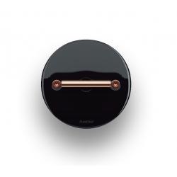 Fontini DO włącznik porcelanowy retro czarny / mosiądz