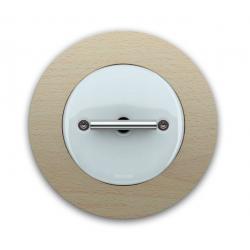 Fontini DO włącznik porcelanowy retro biały / chrom