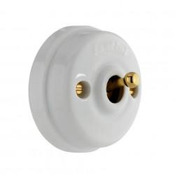Fontini Dimbler porcelana/złoto - włącznik uniwersalny natynkowy
