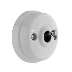 Fontini Dimbler porcelana / chrom - włącznik uniwersalny natynkowy