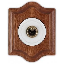 Fontini Venezia włącznik dźwigniowy w drewnianej ramce