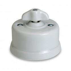 Fontini DO włącznik porcelanowy retro biały / chrom natynkowy