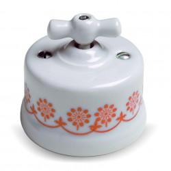 Fontini Garby porcelanowy włącznik biały, Bkue Decor uniwersalny