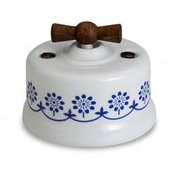 Fontini Garby porcelanowy włącznik biały, Blue Decor uniwersalny