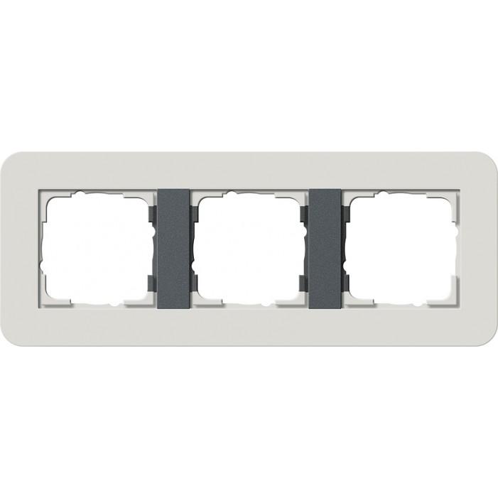 Ramka potrójna jasnoszary/antracyt Gira E3 Soft Touch