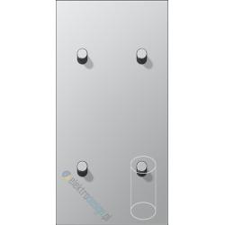2 Łączniki podwójne 2+2 pion walec aluminium Jung LS 1912