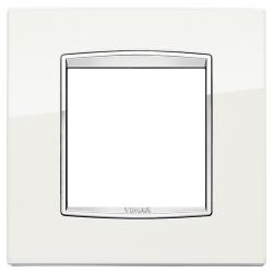 Ramka Vimar Eikon Chrome Classic, metal lakierowany, 2M, arktyczny biały