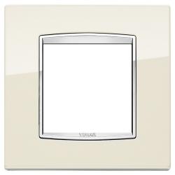 Ramka Vimar Eikon Chrome Classic, metal lakierowany, 2M, antyczny biały