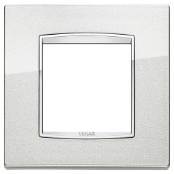 Ramka Vimar Eikon Chrome Classic, metal lakierowany, 2M, srebrny metalik