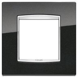 Ramka Vimar Eikon Chrome Classic, metal lakierowany, 2M, antracyt metalik