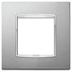 Ramka Vimar Eikon Chrome Classic, metal lakierowany, 2M, srebrny mat