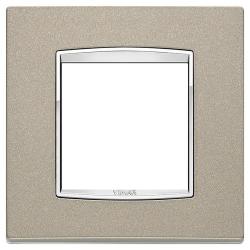 Ramka Vimar Eikon Chrome Classic, tytanowy mat, metal lakierowany, 2M