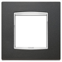 Ramka Vimar Eikon Chrome Classic, antracytowy mat, metal lakierowany, 2M