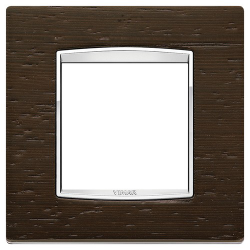 Ramka Vimar Eikon Chrome Classic, Wenge - Drewno 2M
