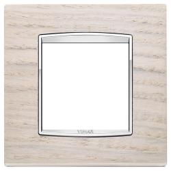 Ramka Vimar Eikon Chrome Classic, Biały Dąb - Drewno 2M