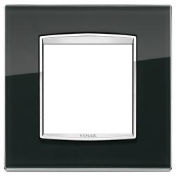 Ramka Vimar Eikon Chrome Classic, Black ice - czarne szkło 2M