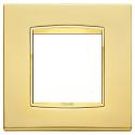 Ramka ozdobna metal rafinowany, satynowe złoto, 2M, Vimar Eikon Chrome Classic