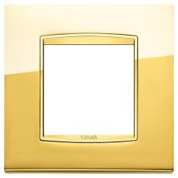 Ramka Vimar Eikon Chrome Classic, Polerowane złoto, metal rafinowany, 2M